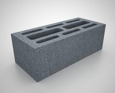 Gạch rỗng A150L3 150x190x390